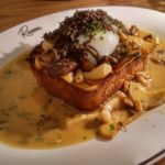 Mushrooms on toast with black truffle and a poached egg - Riviera