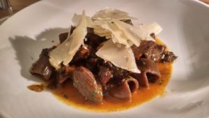 Blood rigatoni with morcilla ragu - Riviera