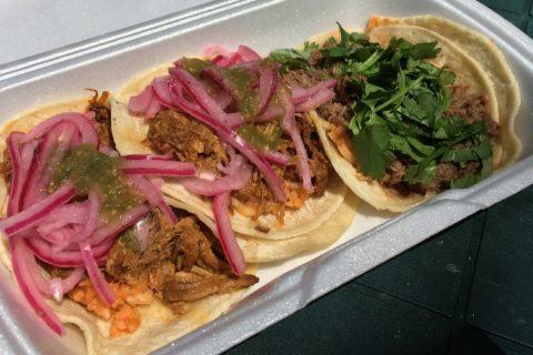 Cochinita and barbacoa tacos - Yakko Takko