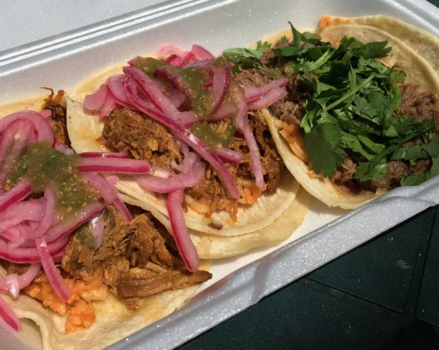 Cochinita and barbacoa tacos - Yakko Takko