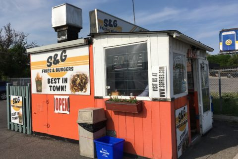S&G Fries and Burgers - in all its orange glory