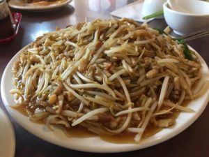 Shredded chicken and BBQ pork noodles - Cafe Orient