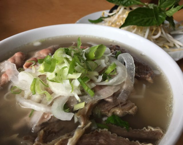 Rare and beef flank pho - The Noodle House