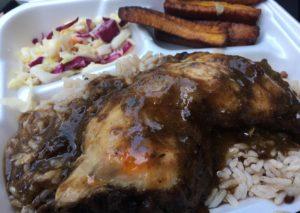 Jerk chicken plate - Caribbean Cruiser