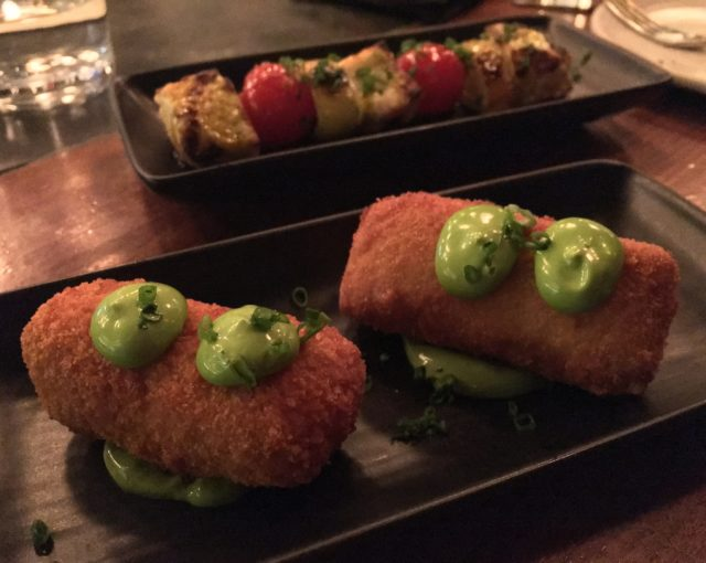 Croquettes and grilled halloumi - Bar Laurel