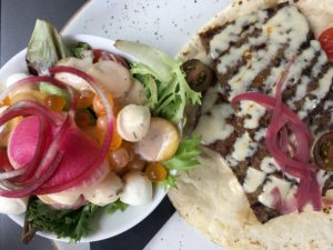 Heirloom salad and donair - OCCO Kitchen