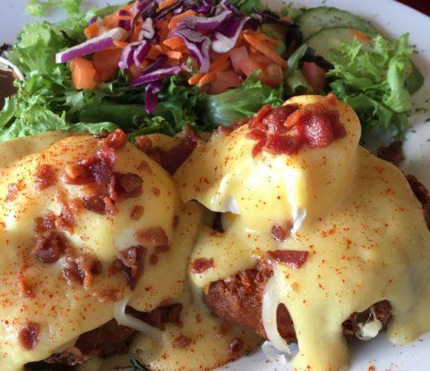 Latke eggs benny - Wellington Diner