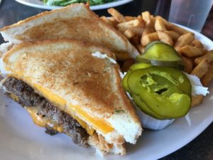 Double grilled cheese burger - Wellington Diner