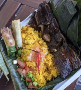 Filipino BBQ beef platter - Lola's Kitchen