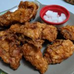 Korean fried chicken with pickled daikon