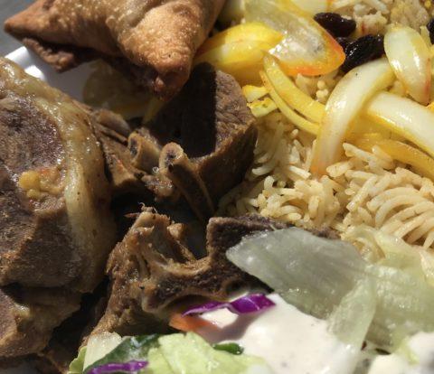 Lamb and rice at Alhuda Restaurant