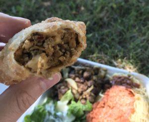 Beef samosa from Alhuda Restaurant